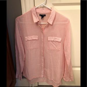 GAP Pink/White Striped Button Down, size Medium.
